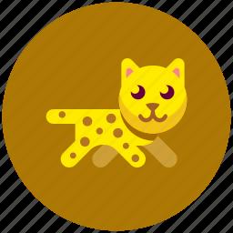 animal, cat, fast, icojam, leopard icon