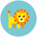 lion, zoo icon
