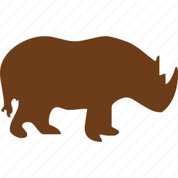 animal, pet, rhino, rhinoceros, shape, wild animal, zoo icon