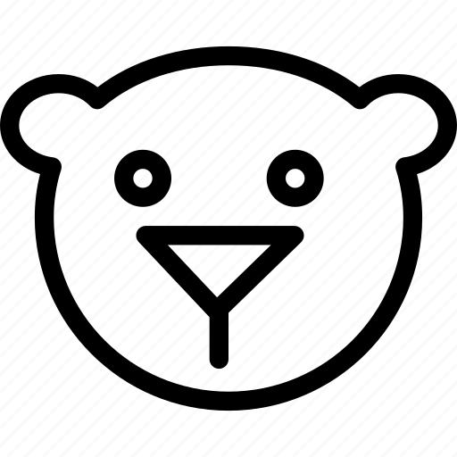 bear, carnivore, creative, grid, line, mammals, shape icon