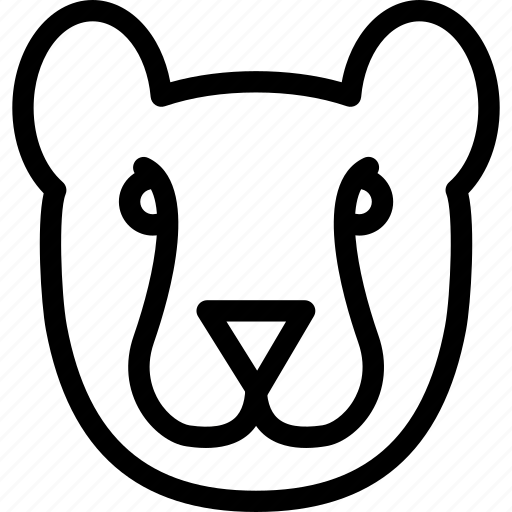 animal, carnivore, cheetah, creative, forest, grid, jungle, line, shape, sign, zoo icon