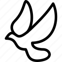 bird, creative, dove, grid, line, peace, shape, sign icon