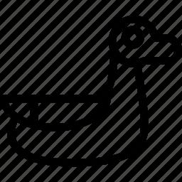 bird, creative, domestic, duck, grid, lake, line, shape, sign icon