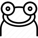 amphibians, carnivore, creative, frog, grid, line, shape icon