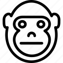 creative, forest, gorilla, grid, jungle, line, mammals, shape, sign, zoo icon