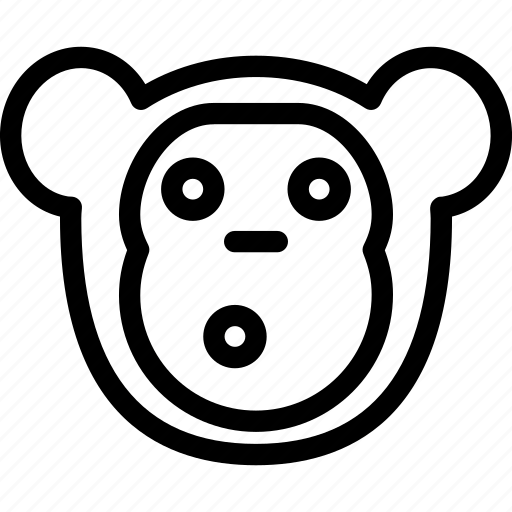 creative, forest, grid, jungle, line, monkey, shape, sign, zoo icon