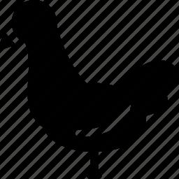 bird, chicken, creative, domestic, egg, food, grid, shape icon