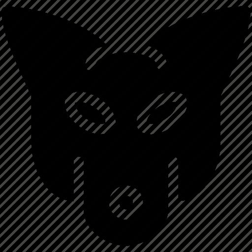 creative, forest, fox, grid, jungle, mammal, omnivore, shape, sign, zoo icon
