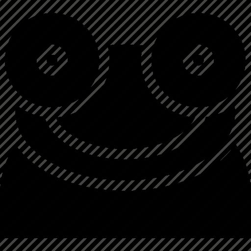 amphibians, carnivore, creative, frog, grid, shape icon