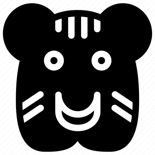 carnivore, creative, forest, grid, jungle, shape, sign, tiger, zoo icon