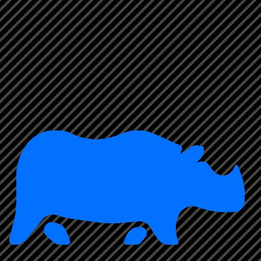 africa, animal, rhino, wildlife icon