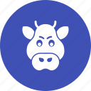 animal, boar, brown, face, forest, grass, wildlife icon