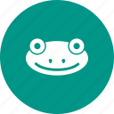 amphibian, animal, frog, green, jump, tropical, water icon