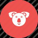 animal, australia, bear, eucalyptus, fur, koala, tree icon