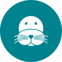 animal, face, lion, mammal, sea, water, wildlife icon