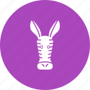 africa, animals, safari, tall, wild, zebra, zebras icon