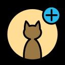 add, animal, cat, domestic, pet, wild icon