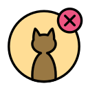 animal, cat, delete, domestic, pet, wild icon