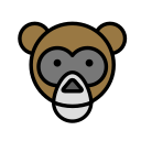 animal, domestic, face, monkey, pet, wild icon