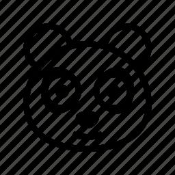 animal, giant panda, panda, panda bear, panda face icon