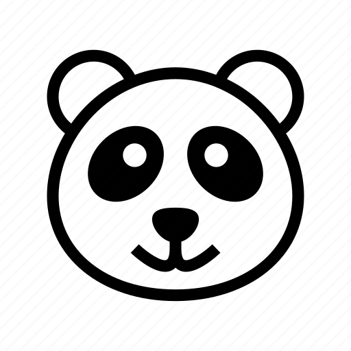 animal, giant panda, panda, panda bear, panda face icon