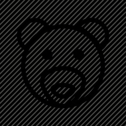bear, bear face, grizzly bear, wildlife, zoo icon