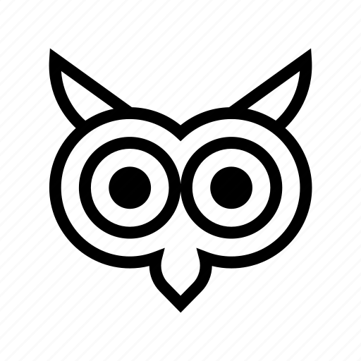 animal, eagle owl, owl, owl face, owl sage icon