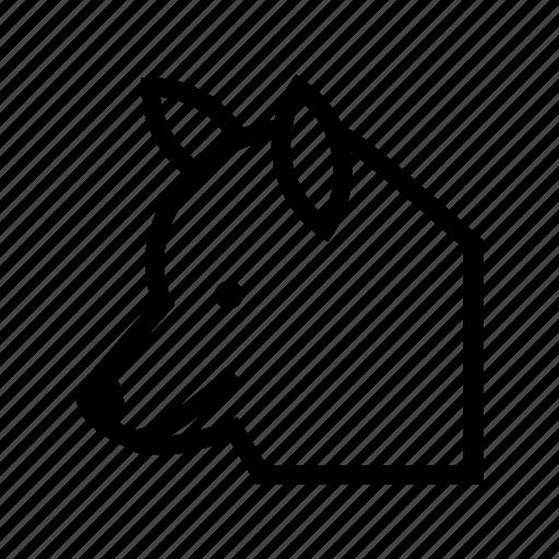 fox, wild animal, wolf, wolf head, wolf howling icon