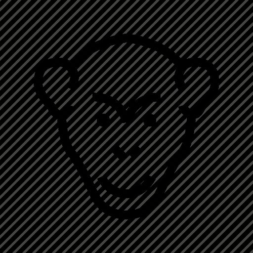 animal, baboon, gorilla, macaque, monkey icon