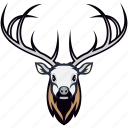 animal, caribou, deer, reindeer, reindeer head icon