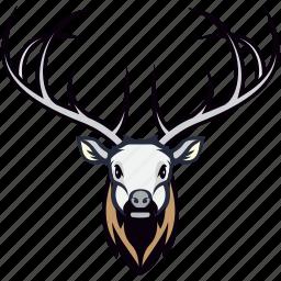 animal, caribou, deer, reindeer, reindeer head icon