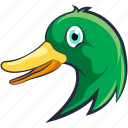 bird, domestic fowl, duck, goose, mallard duck icon