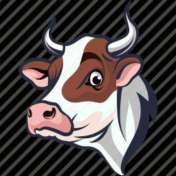 animal, bovine animal, bull, bullock, ox icon