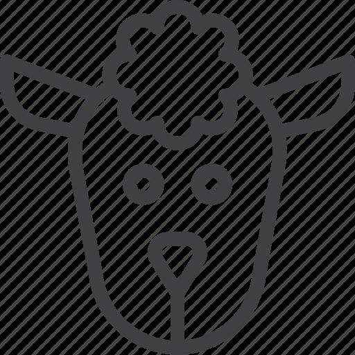 head, lamb, sheep icon