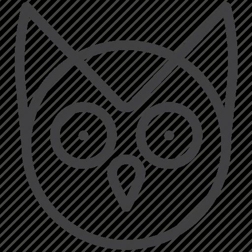education, head, owl, wisdom icon