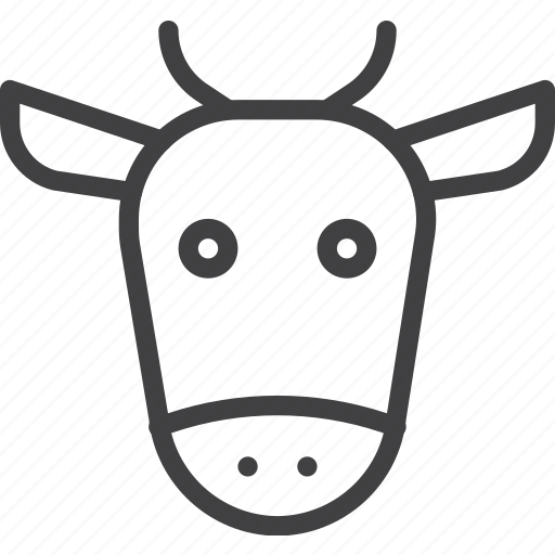 animal, beef, cow, head icon