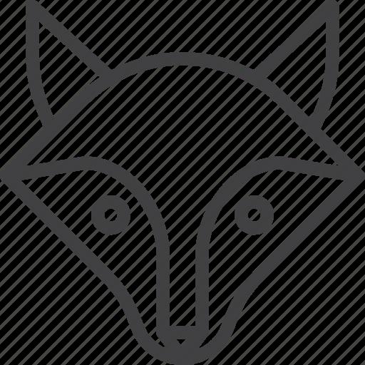 coyote, fox, head icon