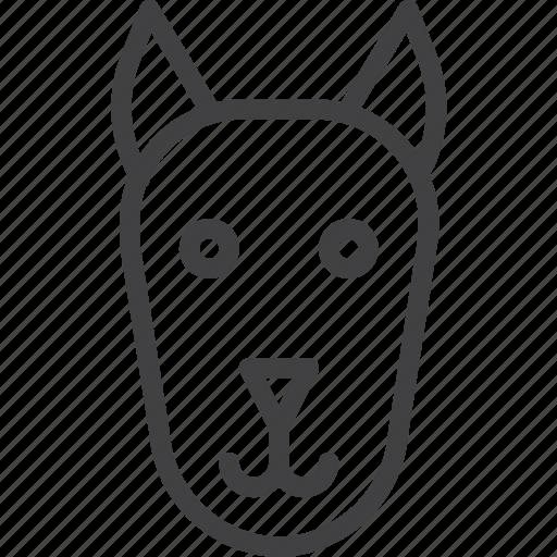 dog, head, pet icon