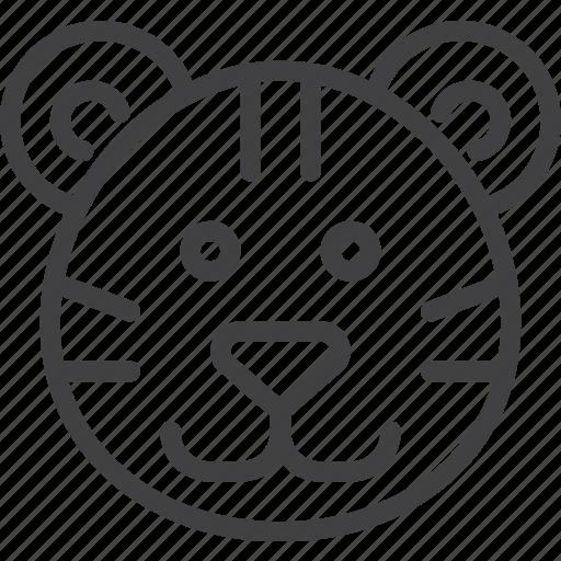 cat, head, tiger, wild icon