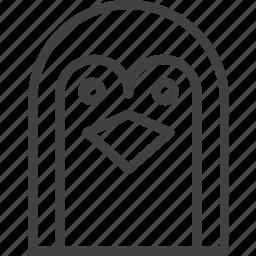 bird, head, penguin icon