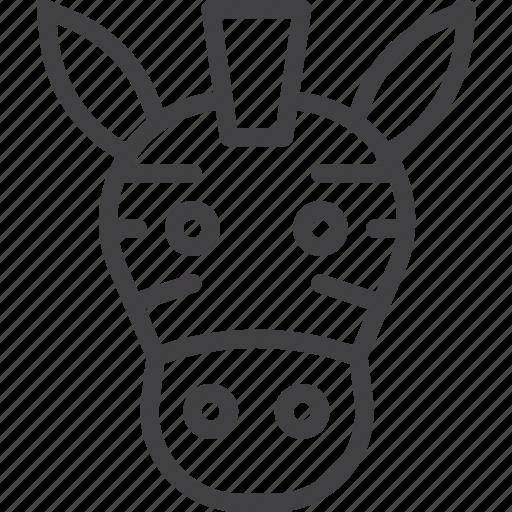 head, wildlife, zebra, zoo icon