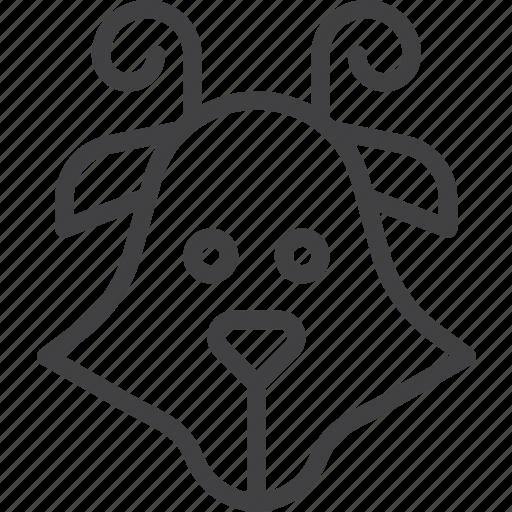 animal, goat, head icon