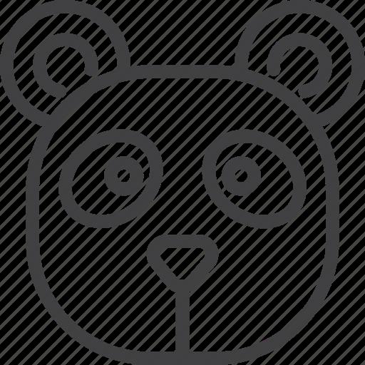 bear, head, panda icon