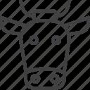 buffalo, cow, head icon
