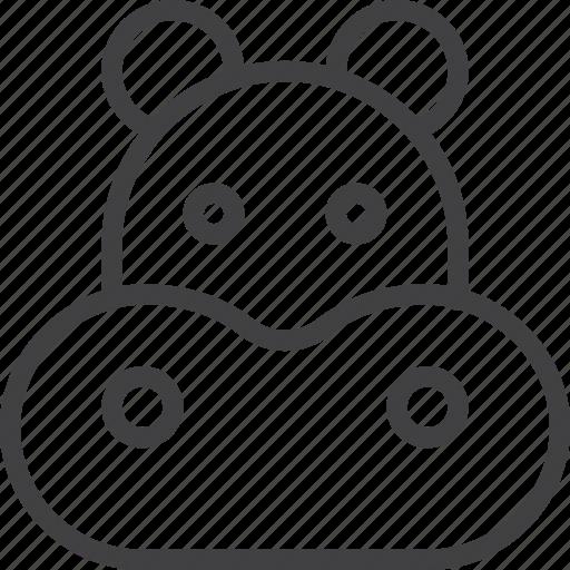 behemoth, head, hippo, hippopotamus icon
