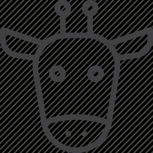 giraffe, head, wildlife icon