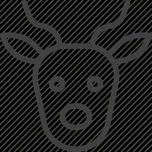 antelope, gazelle, head icon