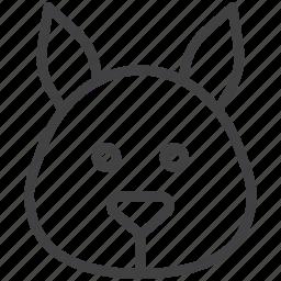 chipmunk, head, squirrel icon