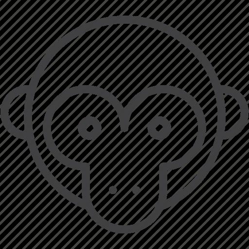 head, macaque, monkey, primate icon