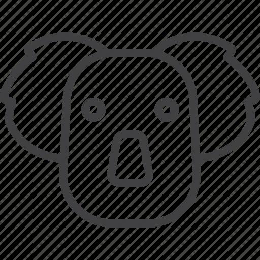 bear, head, koala, marsupial icon